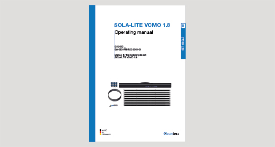 Operating manual SOLA-LITE VCMO 1.8