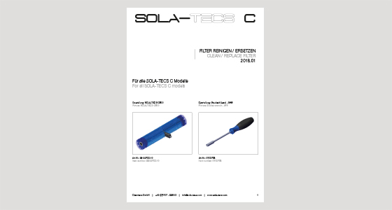 SOLA-TECS C | Clean / replace filter